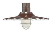 "Millennium Lighting 18"" RLM/ Gooseneck Mount Radial Wave Shade - Architectural Bronze"
