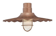 "Millennium Lighting 18"" RLM/ Gooseneck Mount Radial Wave Shade - Copper"