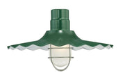 "Millennium Lighting 18"" RLM/ Gooseneck Mount Radial Wave Shade - Satin Green"