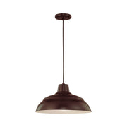 "Millennium Lighting 17"" Warehouse Cord Hung Pendant Architectural Bronze Finish  - Image #1"