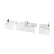 8' Economy Strip Retrofit Kit 2 Lamps x F32T8 (10 Pack)  - Image #1