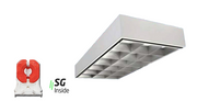 2x4 Surface Mount Parabolic Troffer, 12, 18 and 32 Cell, 4500-9000 Lumens, 2, 3 or 4x18W LED 4000K Lamps Included