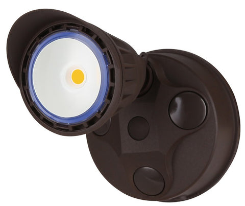 LED Dimmable Security Light, 10 watt, Bronze or White Finish