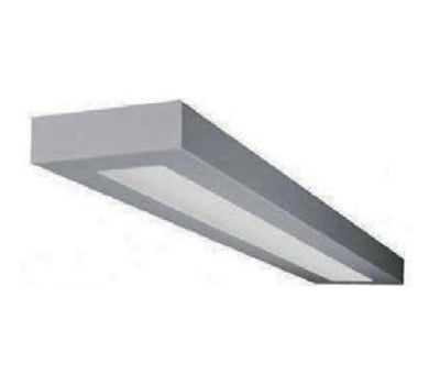 4 Foot LED Direct/Indirect Low Profile Suspended Rectilinear Fixture (Picture shows metallic silver)