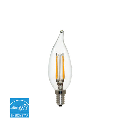Filament LED 4W Watt Light Bulb 120V 40W Comparable