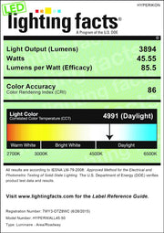 Lighting Facts for the 45 watt economy wall pack light