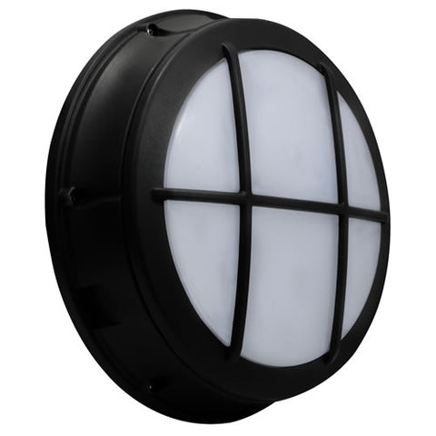 Premium LED Round Bulkhead Grid Frame, 17W, 120-277V, Bronze or White