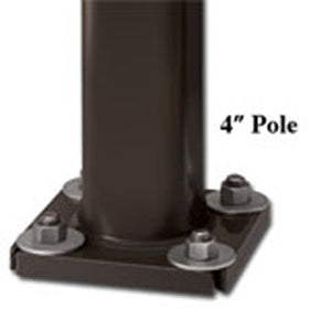 16 foot Steel Square Light Poles, 4 inch