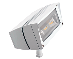 LED Flood Light, 18W, 120-277V, Bronze or White Finish