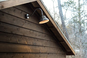 "10"" LED Dusk to Dawn Gooseneck Barn Light, 25 watt, Bronze Finish, Mounting Arm and Wall Plate Included  - Image #3"
