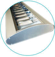 4 Foot LED Parabolic Grille Fixture With Aluminum Shield, 50 or 100 watt