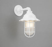 "Hi-Lite Radial Vapor Jar Sconce - White/Standard (shown with 9.5"" Shade and Frosted Glass)  - Image #2"
