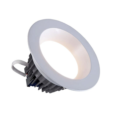 6 Inch Round Downlight, 18 Watt, 120V, 1500 Lumens, White Finish, 3000K, 4000K or 5000K