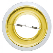 Polished Alzak Reflector Gold Trim for 6 Inch Recessed Can Lights