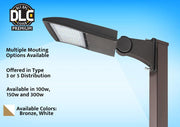 """The Quasar"" G2 LED Shoebox Floodlight, 150 watt, 19400 Lumens, 120-277V, 5000K, Bronze Finish  - Image #11"