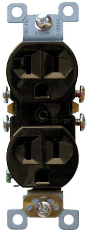 Brown Standard Duplex Receptacles