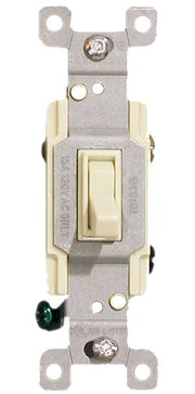 Almond Three Way Toggle Switch