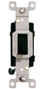Black Three Way Toggle Switch