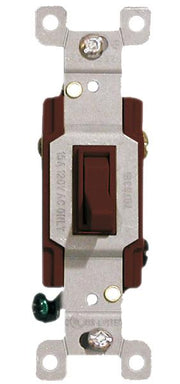 Brown Three Way Toggle Switch