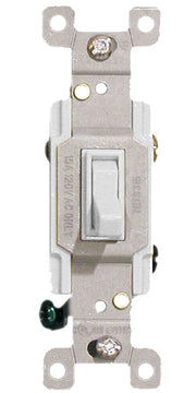 White Three Way Toggle Switch