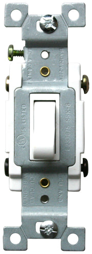 Four Way Toggle Switch 15 Amp White  - Image #1