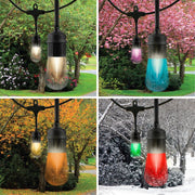 Color Changing Vintage LED String Lights, 24 Bulbs, 48 Ft. Black or White Cord, Linkable  - Image #9