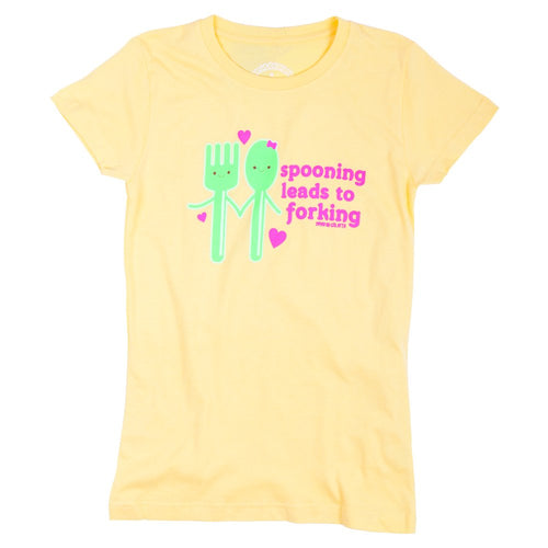 David & Goliath® Spooning Leads to Forking Tee Shirt