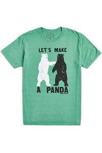 David & Goliath Let's Make a Panda Adult T-Shirt in Heather Kelly Green
