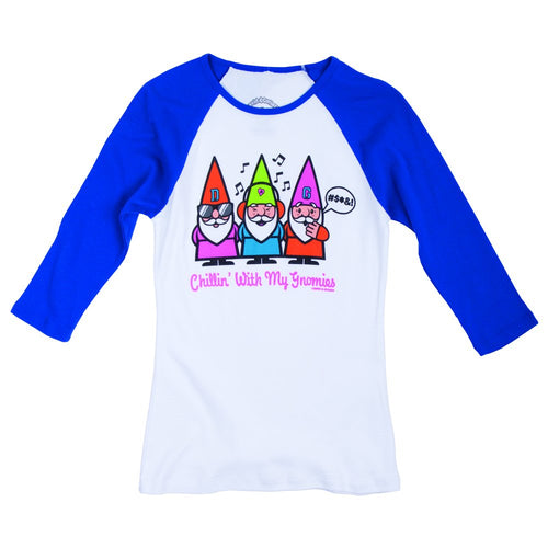 David & Goliath® Chillin' With My Gnomies Ladies Raglan Tee Shirt
