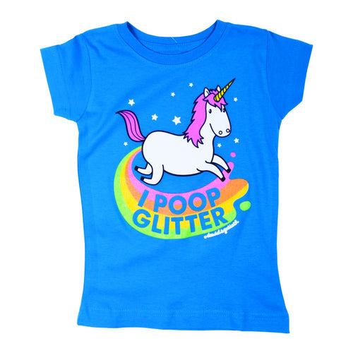 David & Goliath® Poop Glitter Girls Tee Shirt