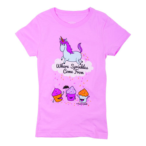 David & Goliath® Sprinkles Come From Girls Tee Shirt