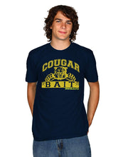 Load image into Gallery viewer, David & Goliath Cougar Bait Adult T-Shirt in Navy