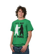Load image into Gallery viewer, David & Goliath Let's Make a Panda Adult T-Shirt in Heather Kelly Green