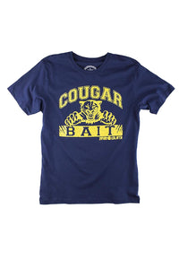 David & Goliath Cougar Bait Adult T-Shirt in Navy