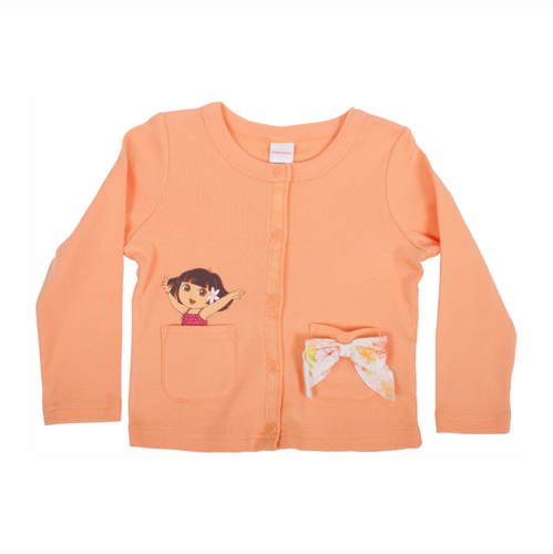 Dora The Explorer Coral Cardigan