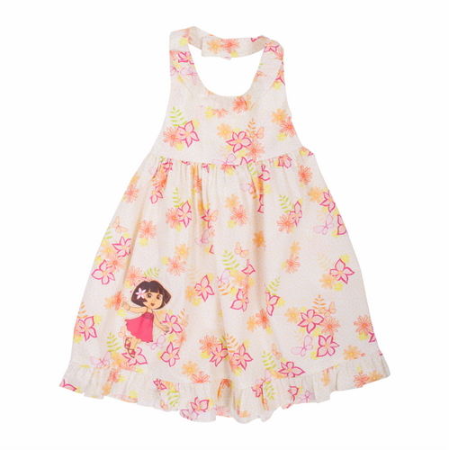 Dora The Explorer Floral Sun Dress