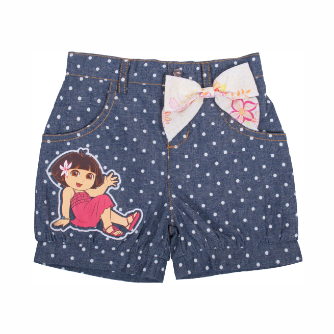 Dora The Explorer Printed Dots Bubble Shorts