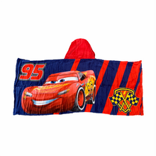 Load image into Gallery viewer, Cars Lightning McQueen Hooded Towel