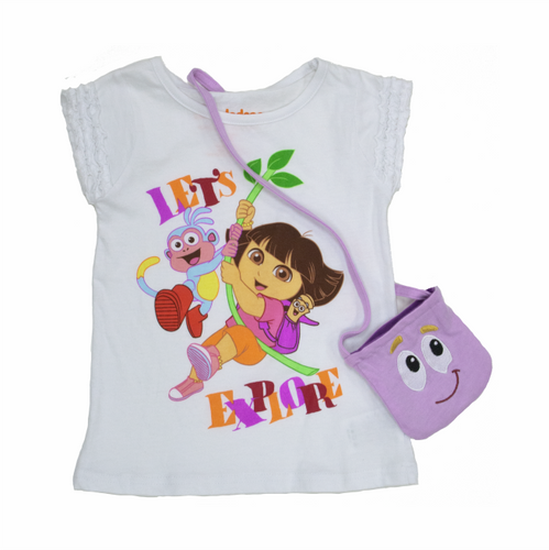 Dora The Explorer Let's Explore Tee W/ Purse