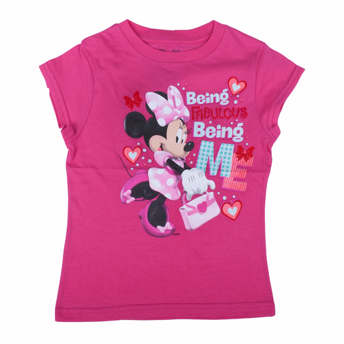 Minnie Mouse Youth Pink Tee
