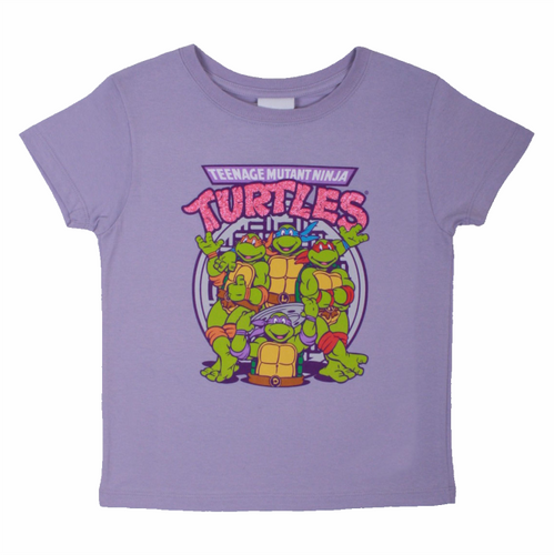 TMNT Girls Group Logo Tee