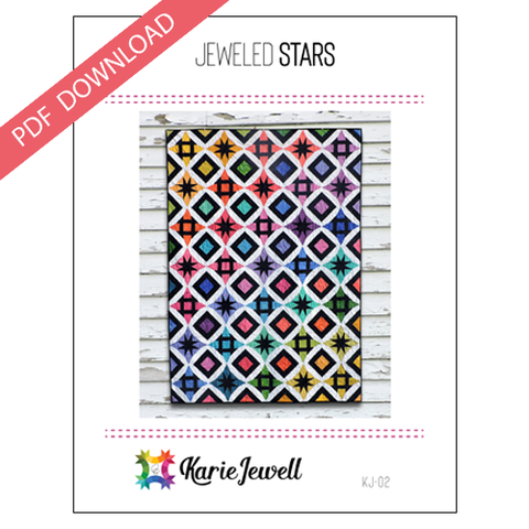 Jeweled Stars Pattern - PDF