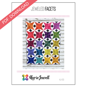 Jeweled Facets Pattern - PDF   -  Pre-Order