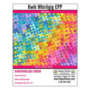 Kwik Whirligig Pattern & Paper Pack - Throw