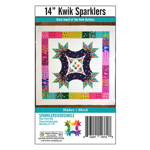 "Kwik Sparklers Single Paper Pack - 14"" Block"