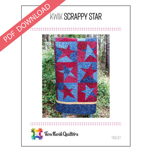 Kwik Scrappy Star Pattern - PDF