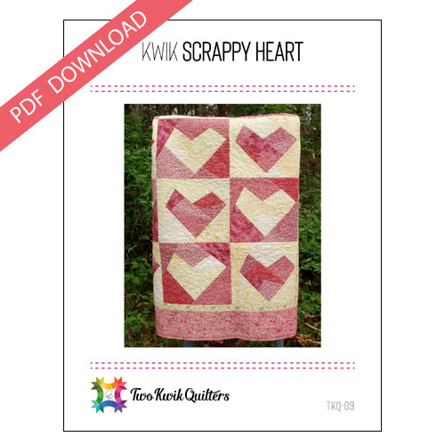 Kwik Scrappy Heart Pattern - PDF