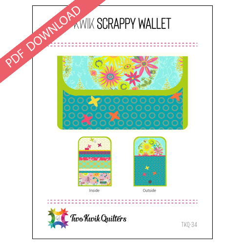 Kwik Scrappy Wallet Pattern - PDF