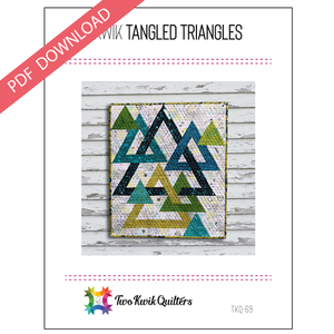 Kwik Tangled Triangles Pattern - PDF