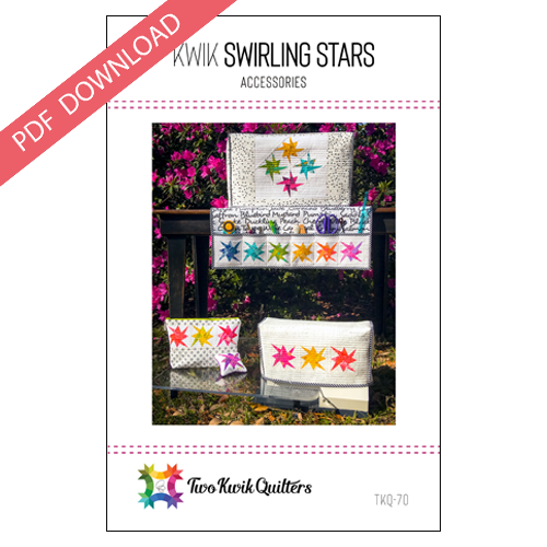 Kwik Swirling Stars Accessories Pattern - PDF